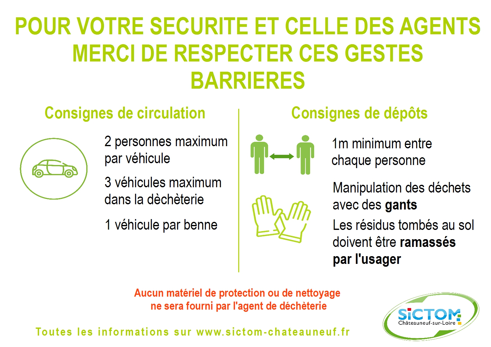 Consignes de securite decheteries